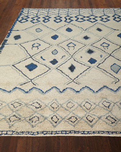 Iris Hand-Knotted Rug, 5' x 8'  and Matching Items