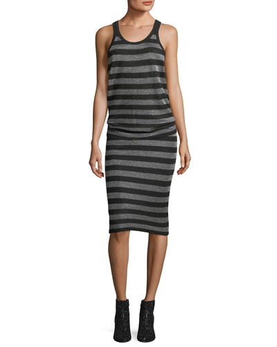 Lurex Striped Knit Pencil Skirt and Matching Items