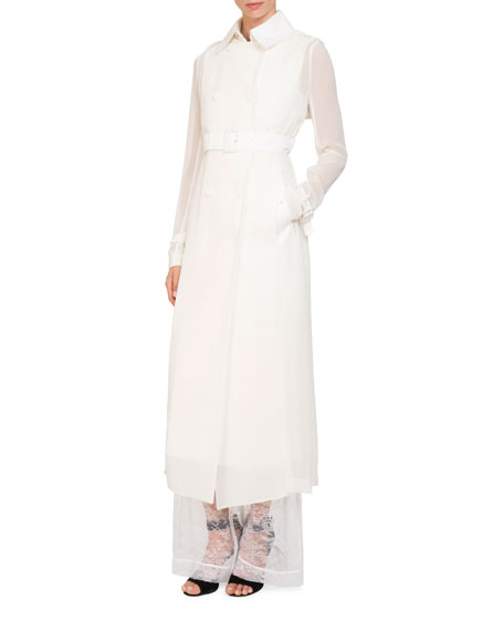Long-Sleeve Floral-Lace Blouse