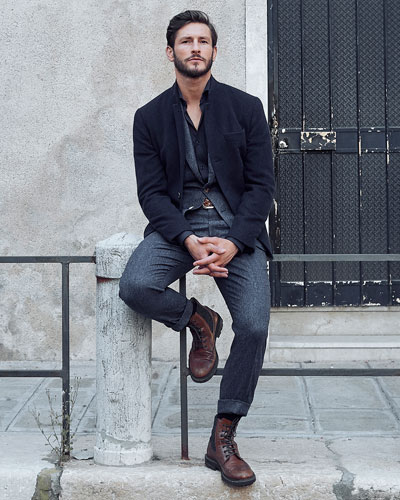 Cashmere Single-Breasted Jacket and Matching Items
