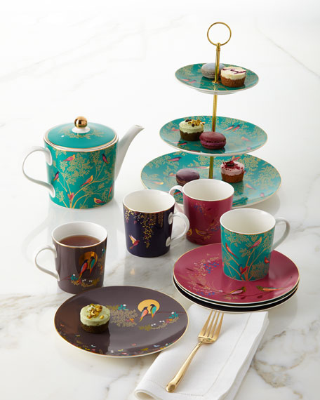 Sara Miller Gold-Plated Assorted Plates, Set of 4