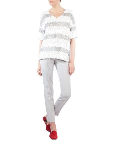 Melissa Slim-Leg Silk Crepe Pants and Matching Items