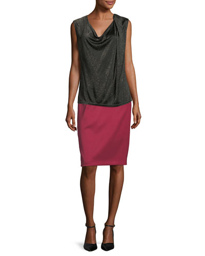 Draped Lurex Knit Tank Top and Matching Items