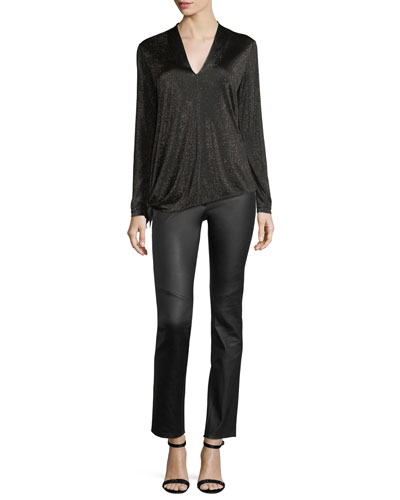 Lurex Jersey V-Neck Pullover and Matching Items