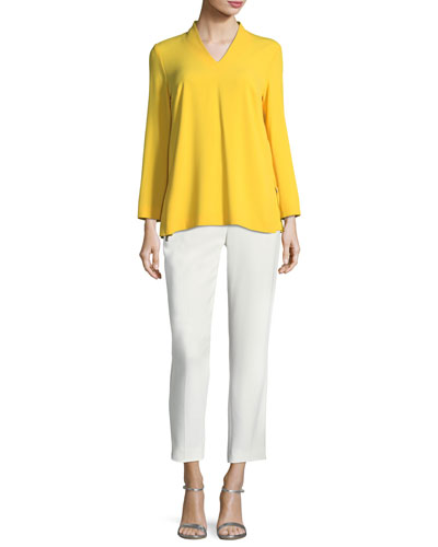Hepburn Techno Ankle-Zip Pants and Matching Items