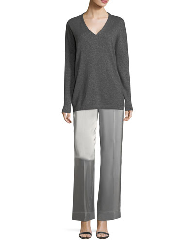 Satin Wide-Leg Pants and Matching Items