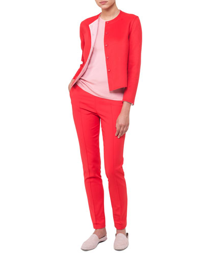 Mid-Rise Slim-Leg Pants and Matching Items