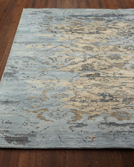 "Aquamarine Hand-Knotted Runner, 2'6"" x 10'"