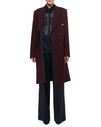 Double-Breasted Wool Coat and Matching Items