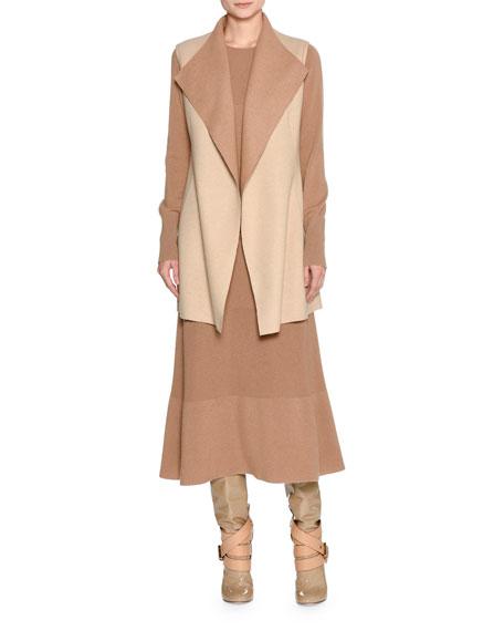 Long-Sleeve Cashmere Sweaterdress