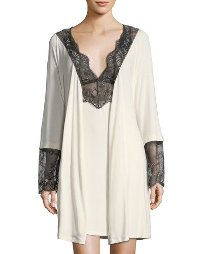 Delight Lace-Trimmed Robe and Matching Items