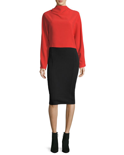 Mid-Rise Knit Pencil Skirt and Matching Items