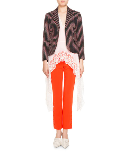 Tristan Cropped Button-Trim Pants and Matching Items