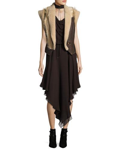 Twilight Sleeveless Choker Silk Midi Dress and Matching Items