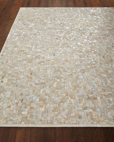 Maxie Metallic Hairhide Rug, 3' x 5' and Matching Items