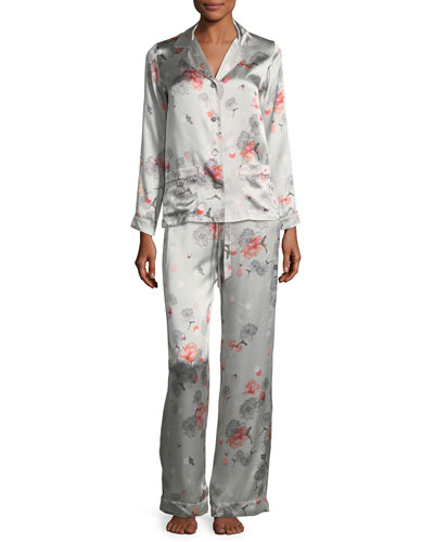 Floral-Print Long-Sleeve Pajama Top and Matching Items