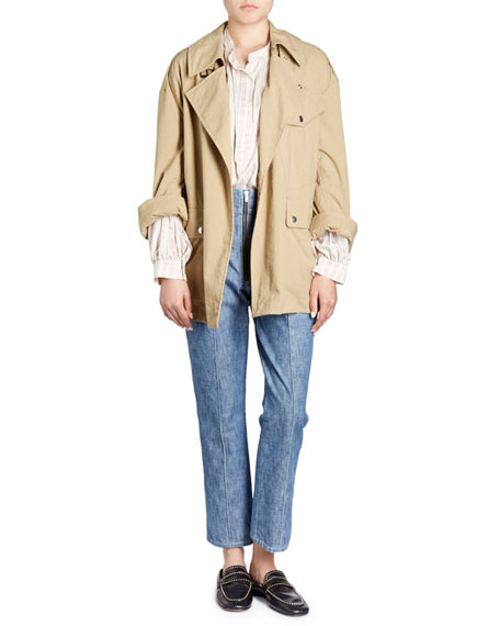 Lorenzo Belted Oversized Trench Coat