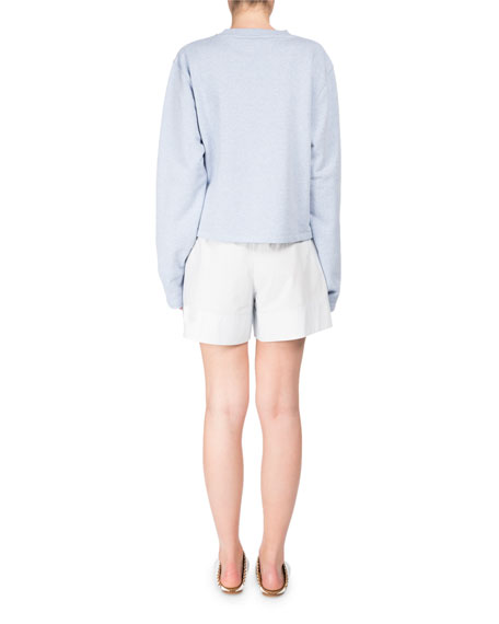 Lithes Super Long-Sleeves Cotton Pullover Sweatshirt