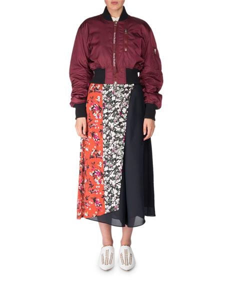 Crewneck Short-Sleeve Cotton Pullover Top