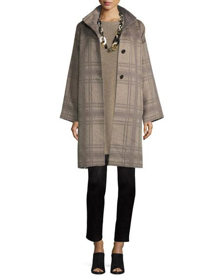 Luxe Alpaca/Wool Plaid Coat