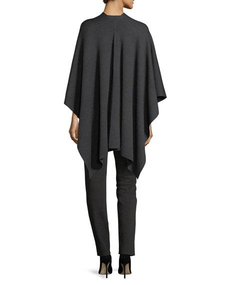 Melange Stretch-Ponte Slim Pants, Plus Size