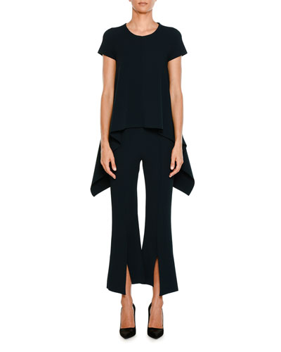 Front-Slit Flared Crepe Flared Pants and Matching Items