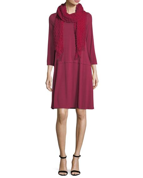 3/4-Sleeve Jersey Dress