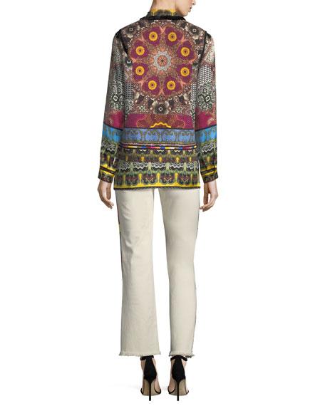 Mandala Printed & Embroidered Vest