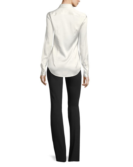 Cindy Stretch-Charmeuse Blouse