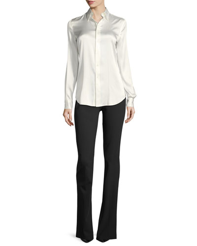 Cindy Stretch-Charmeuse Blouse and Matching Items