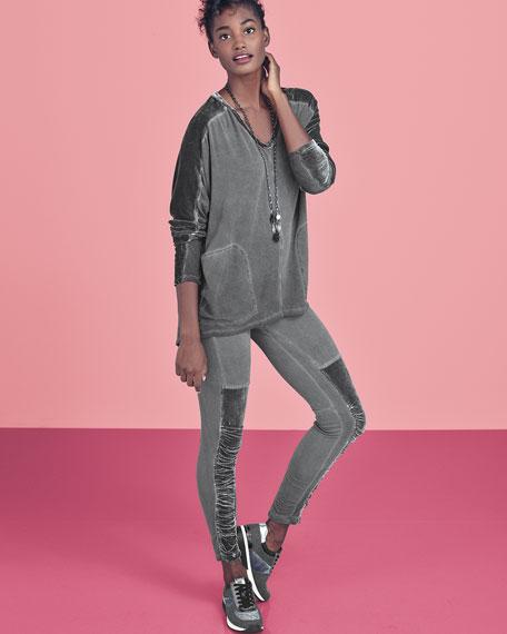 Kata Velvet Leggings, Plus Size