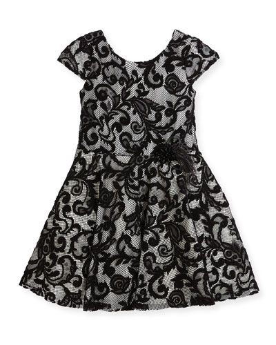 Lovely Lace Contrast Overlay Dress, Size 2-6X and Matching Items