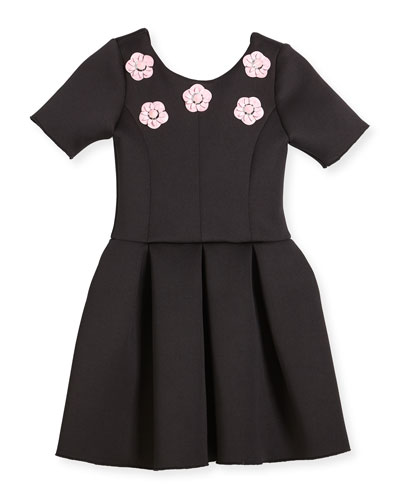 Flower Stud Box-Pleat Dress, Size 4-6X and Matching Items
