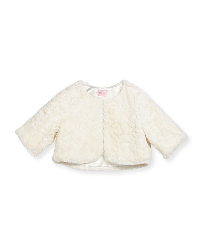 Faux-Fur Cropped Shrug, Size 2-6 and Matching Items