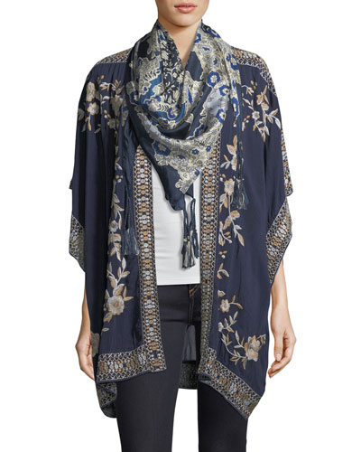 Wishing Floral-Print Silk Scarf and Matching Items