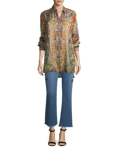 Fern Paisley Printed Tunic and Matching Items