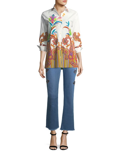 Poplin Floral Paisley Tunic and Matching Items