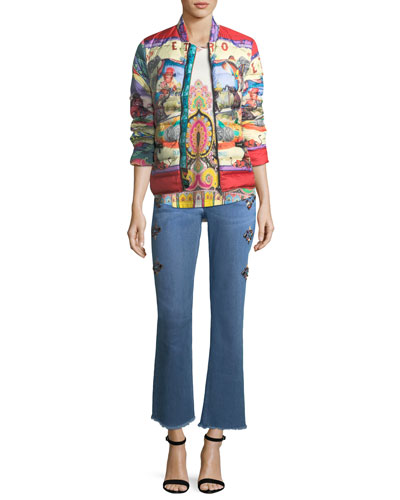 Circus-Print Down Puffer Jacket and Matching Items