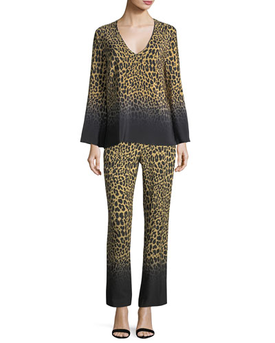 Ombre Leopard-Print Pants and Matching Items