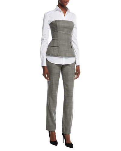 Simone Glen Plaid Suiting Bustier Top and Matching Items