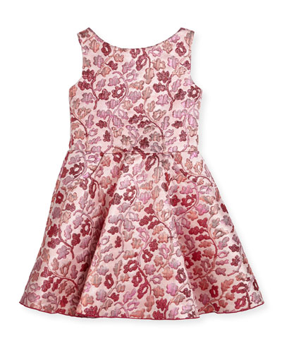 Berry Blossom Metallic Brocade Swing Dress, Size 2-6X and Matching Items