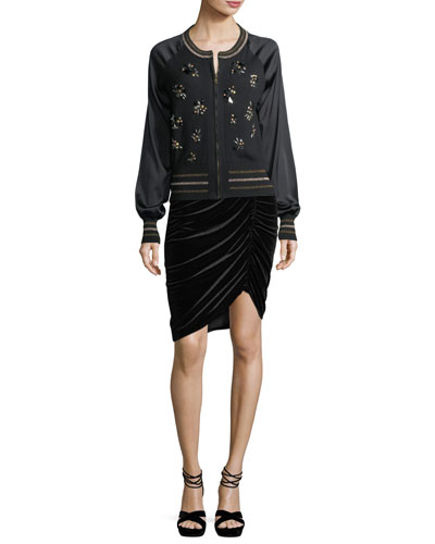 Bon Bon Embellished Bomber Jacket and Matching Items