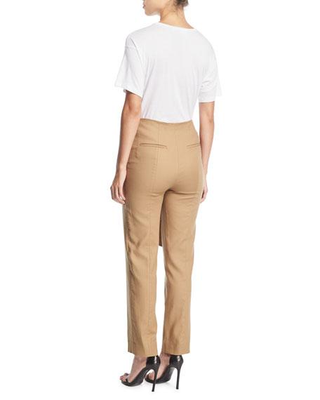 Crewneck Short-Sleeve T-Shirt w/ Sequin Floral