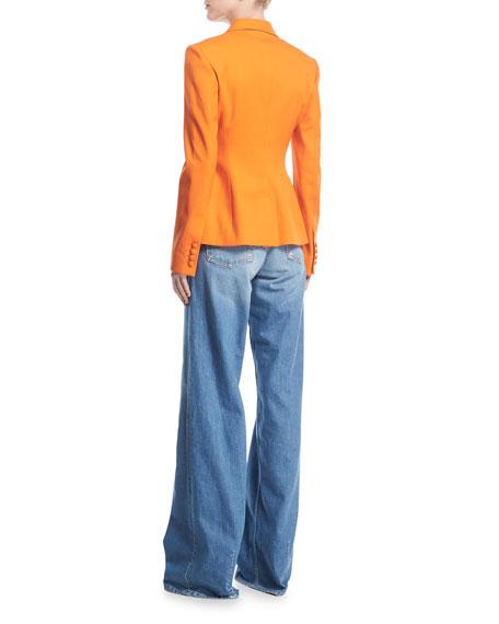 Wide-Leg High-Rise Denim Pants