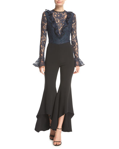 Jonah High-Waist High-Low Hem Crepe Pants and Matching Items