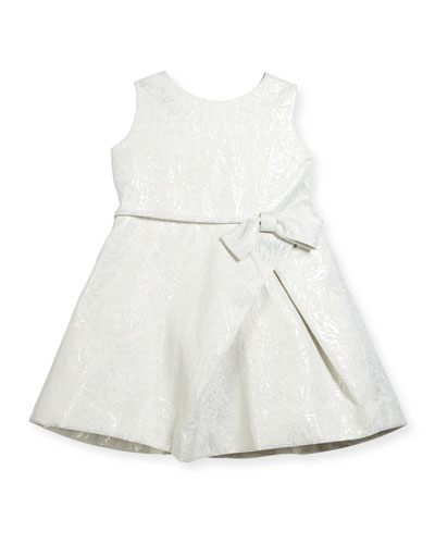 Inverted-Pleat Jacquard Dress, Size 2-6 and Matching Items