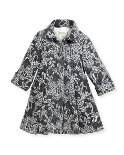 Floral Topper Coat, Size 2-6 and Matching Items