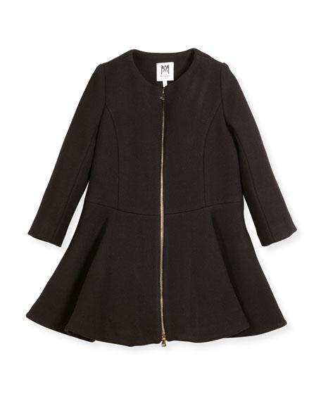 Emma Double-Face Wool-Blend Coat, Size 8-16
