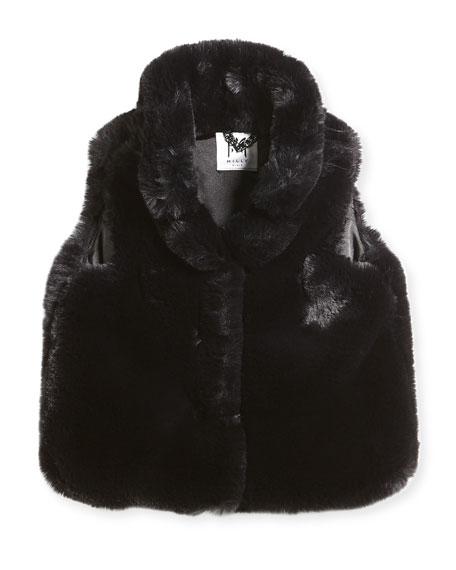 Faux-Fur Vest, Size 8-14