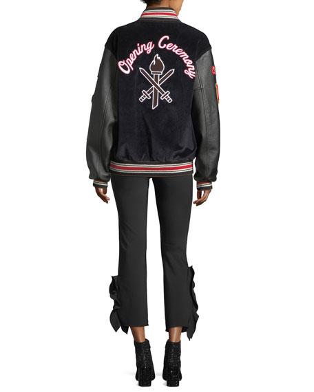 Corduroy Varsity Jacket w/ Appliques